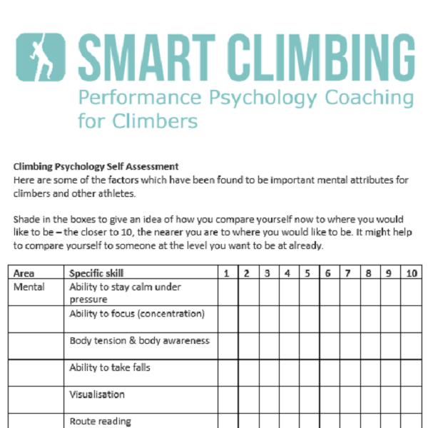 Climbing Assessment Document